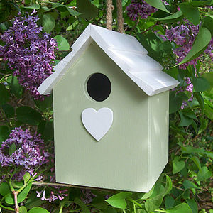Handmade Hanging Bird House - 5th anniversary: wood