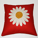 Red Daisy Cushion