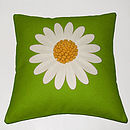 Green Daisy Cushion