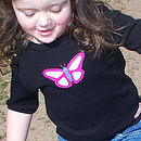 Hand Appliqued Organic Butterfly T Shirt