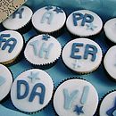 12 'Happy Father's Day' Cupcakes