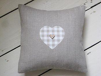 Linen Heart Cushion 1