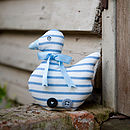 Blue Ticking Stripe Meeni Duck