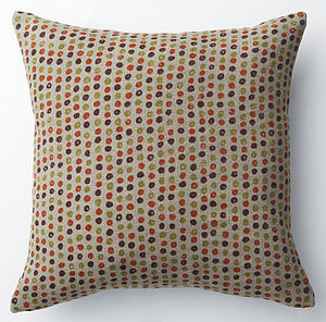 100% Linen Hand Printed Petit Pois - patterned cushions