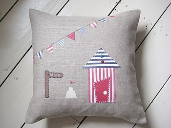 Linen Beach Hut Cushion