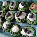 12 Sheep Cupcakes