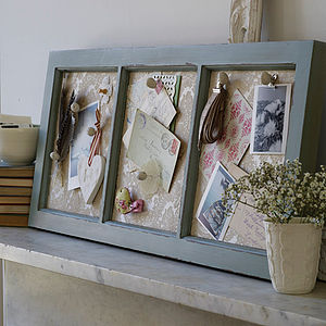 Antique Style Wooden Memo Board - home accessories