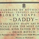 Father's Day soaps by Caroline de Rothschild
