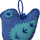 Blue Bird Dangler Blankit