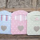 Handmade Dotty Peg Bag + Applique Linen Heart