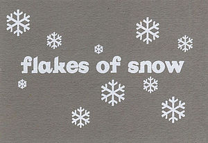 Flakes of Snow Postcard Packs & Single Cards - christmas cards