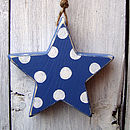 spotty star_denim blue