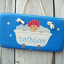 bather plaque_bright blue