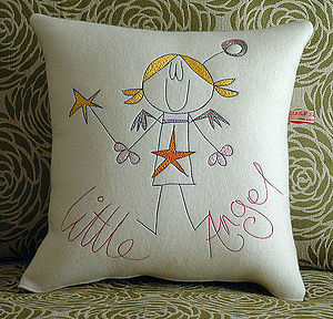 Personalised Girls Cushion - living room