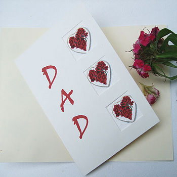 Sweet William card for Dad
