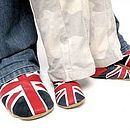 Thumb slippers union jack