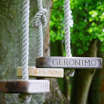 geronimo and yeee haaa swings