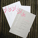 love birds A5pink a - invitation
