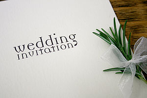 Text Design Wedding Stationery Range - place cards