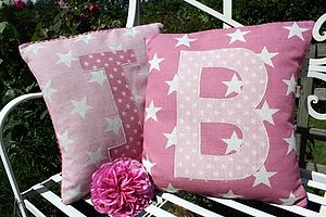 Star Initial Cushion - baby's room