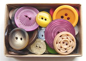 Box of Vintage Buttons - sewing & knitting