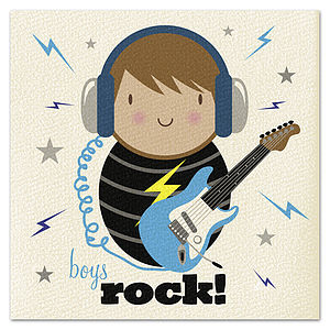 Boys Rock! Card - birthday cards
