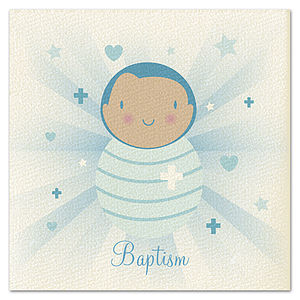 Boys 'Beams' Baptism Card - new baby & christening cards