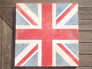 Hand Painted Union Jack Canvas