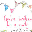 Party invite close-up