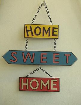 or home sweet sign