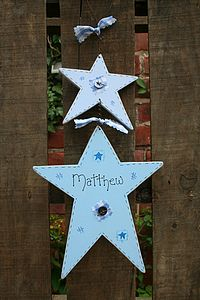 Handmade Double Star Name Sign - signs