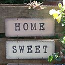 Handmade 'Home Sweet Home' Sign