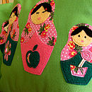 Green Russian dolls 5