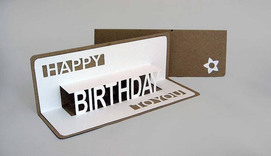 Happy Birthday To You Pop Up Card By Ruth Springer Design