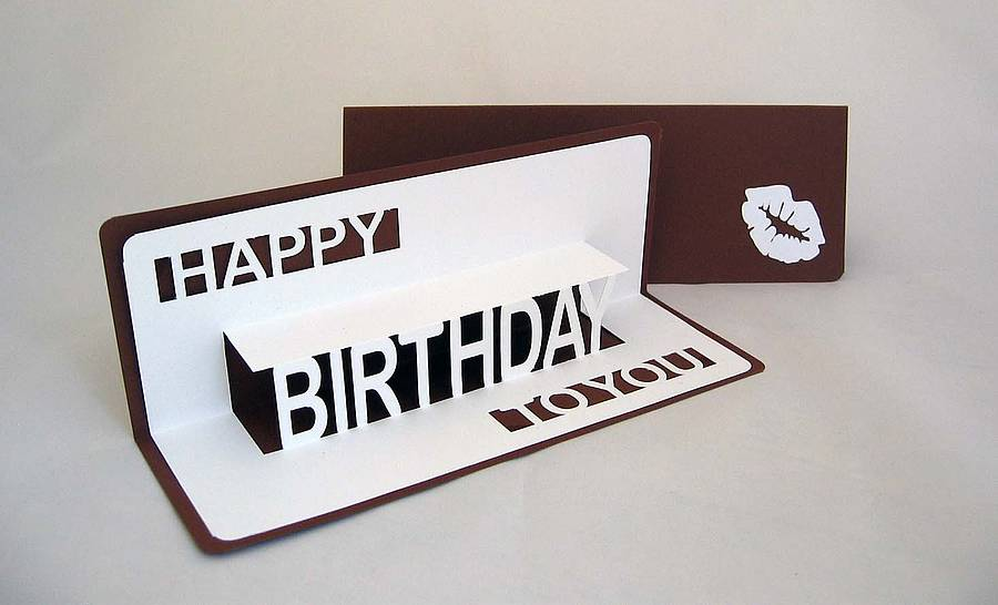 happy birthday to you popup card by ruth springer design, Birthday card
