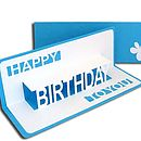 Birthday Pop Up Card Sky Blue