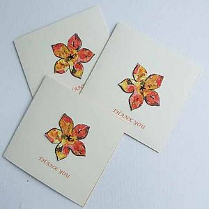 Wallflower Seed Thank You- 3 Cards