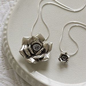 Mummy and Me Rose Necklace Set - inspired by family