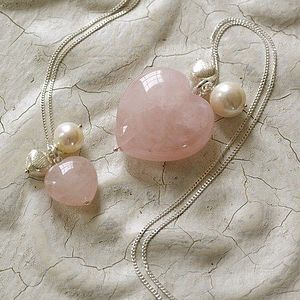 Mummy And Me Vintage Pink Hearts Set - necklaces & pendants