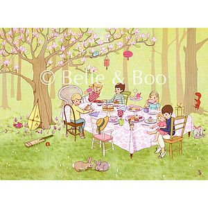 Ava's Tea Party Fine Art Print - posters & prints