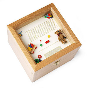 Christening Memory Box - baby & child