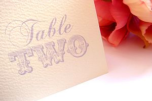 Lydia Name Cards Or Table Numbers - place cards