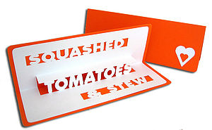 Squashed Tomatoes Birthday Pop Up Card