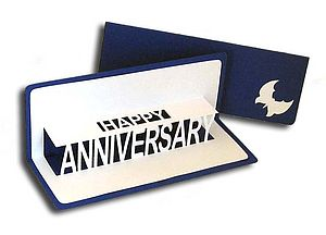 Personalised Anniversary Pop Up Card - wedding, engagement & anniversary cards