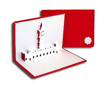 Big Ben Pop Up Card Red