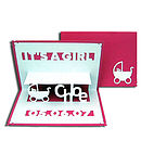 It's A Girl Pop Up Card Pink