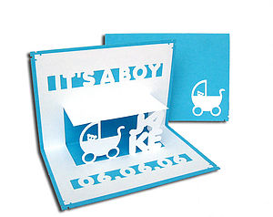 Personalised 'It's A Girl' Or 'Boy' Card - new baby cards