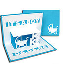 It's A Boy Pop Up Card Blue