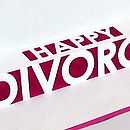 Divorce Pop Up Card Close