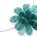 Flower Text Turquoise